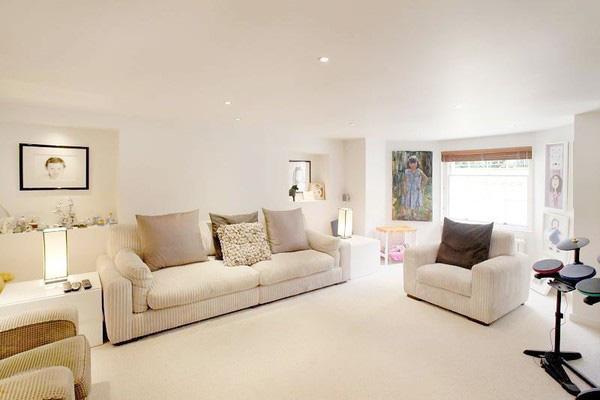 sơn nhà màu be rất hữu hiệu trong việc tăng diện tích phòng