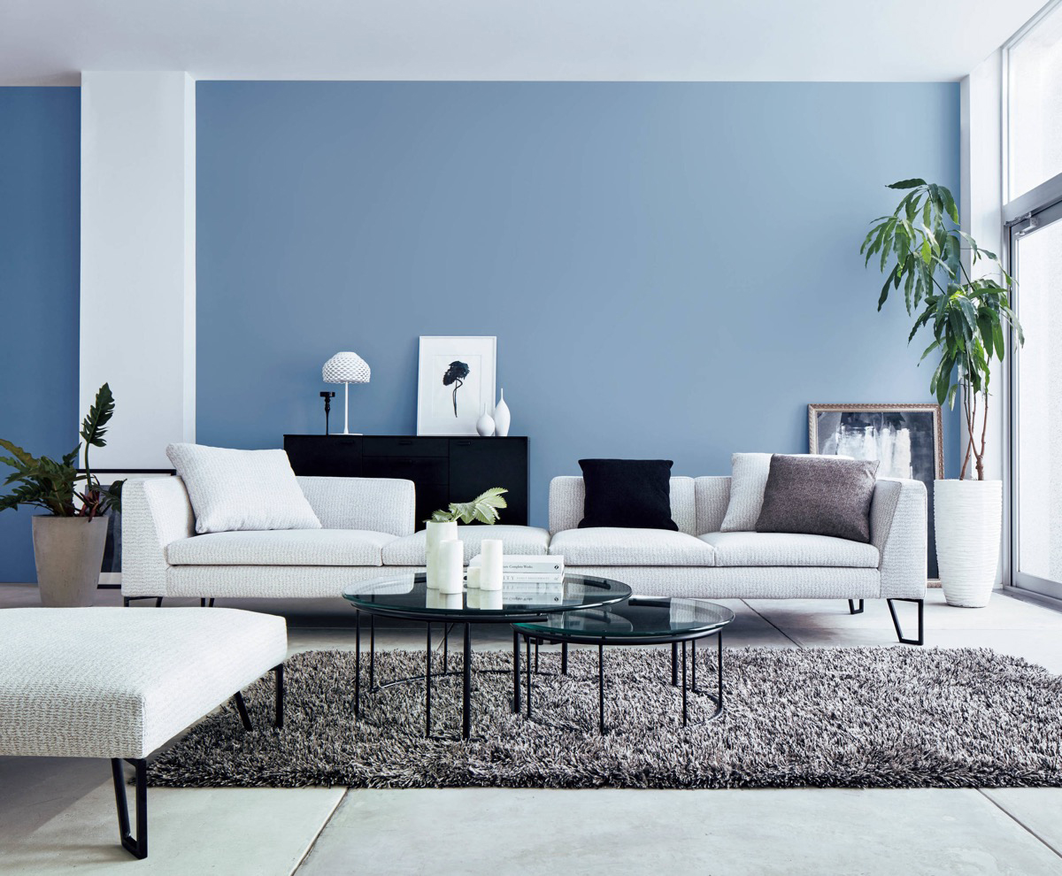 Sơn nội thất màu xanh dương mang lại không gian ấm cúng và ngọt ngào