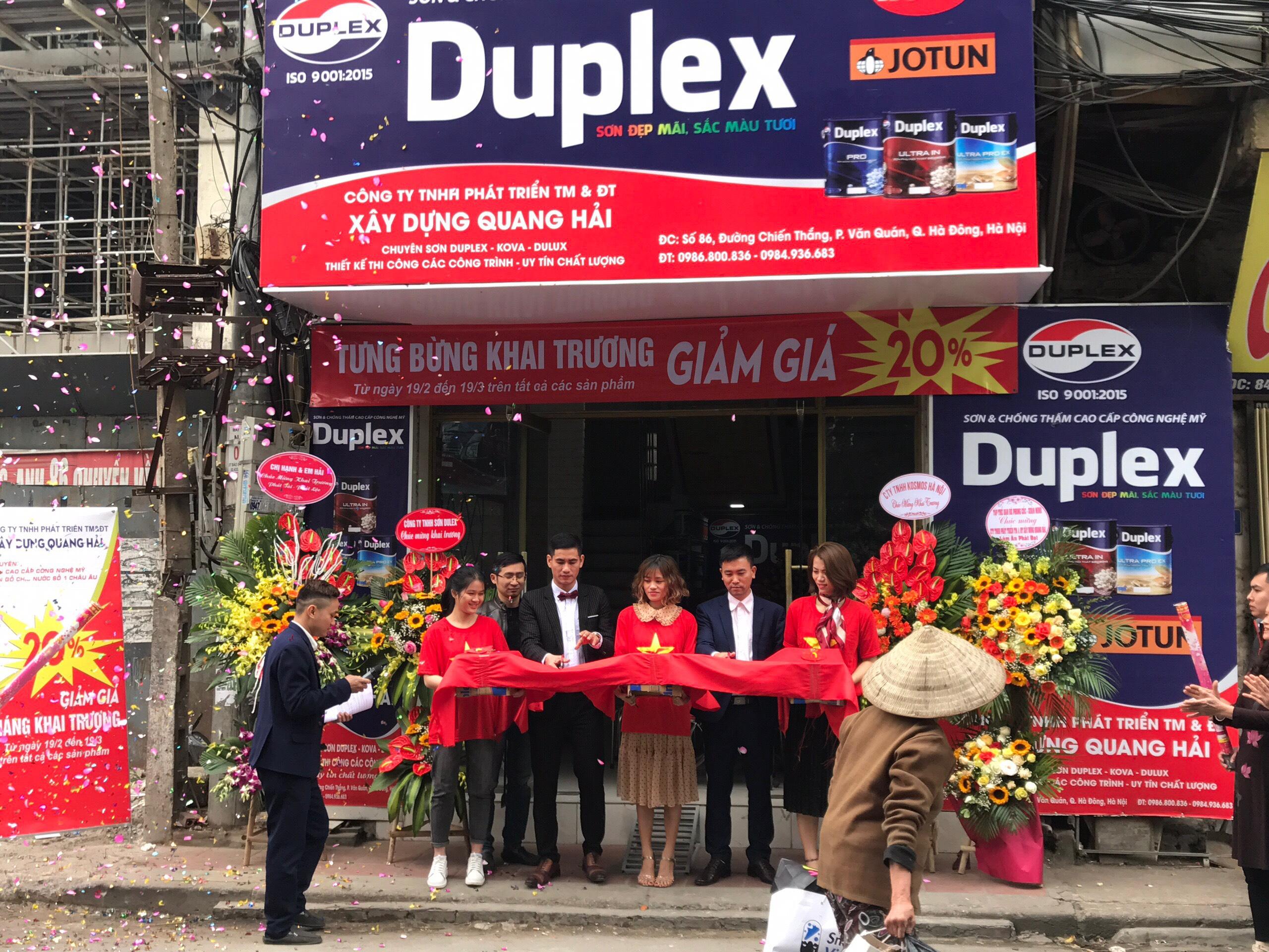 Hãng sơn Duplex chúc mừng đại lý sơn Quang Hải khai trương đại hồng phát